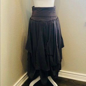 baba Dresses - Brown Strapless Dress or Long Skirt by Baba